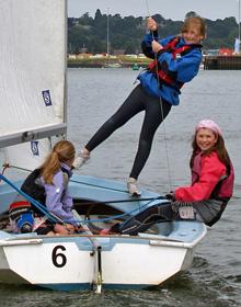 Chelmondiston Primary pupils sailing with Neptune