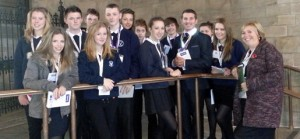 The Holbrook Academy News Team in Westminster Hall